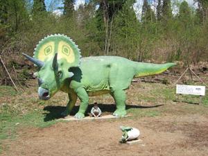 トリケラトプス@かつやま恐竜の森