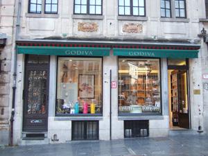 グランプラスのゴディバ(Godiva)本店@ブリュッセル, ベルギー