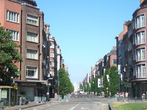 駅から市庁舎へ続く道@ルーベン, ベルギー