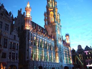 市庁舎のライトアップ@ブリュッセル, ベルギー