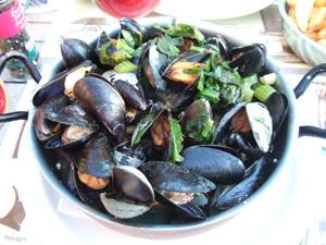ムール貝の白ワイン蒸し@Kelderke, ブリュッセル