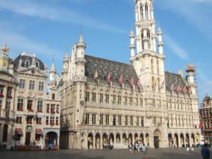 グランプラスの市庁舎@ブリュッセル, ベルギー
