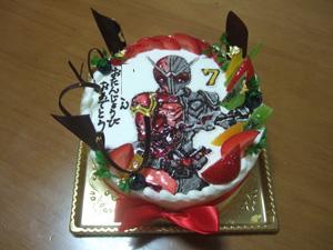 仮面ライダーダブル ヒートメタルのバースデーケーキ