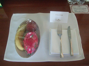 フルーツのサービス@台北の圓山大飯店