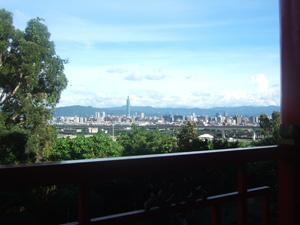 客室からの眺望@台北の圓山大飯店