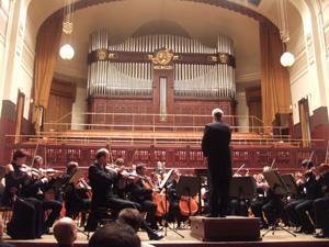 オーケストラ@プラハのスメタナホール