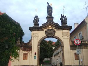 ストラホフ修道院の入口@プラハ