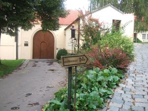 ストラホフ修道院にあるペクロ(Peklo)の看板@プラハ