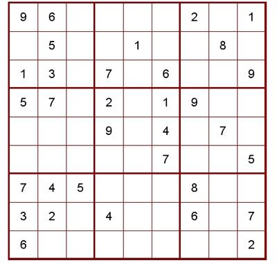 標準的な9×9の数独
