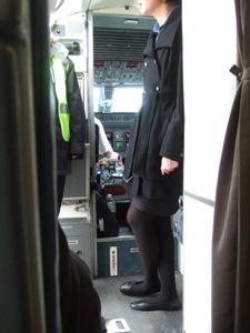 シカゴからバルティモアへのフライト機内