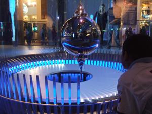 フーコーの振り子で自転を見る@シカゴ科学産業博物館