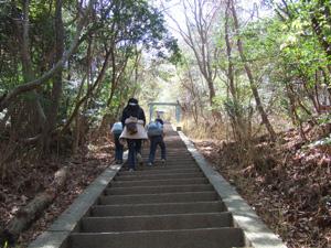大文字へ最後の階段@京都