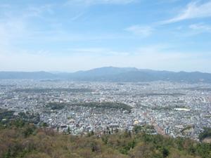 大文字から見える京都市街の眺望@京都