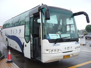 バスで上海浦東国際空港から杭州千島湖へ