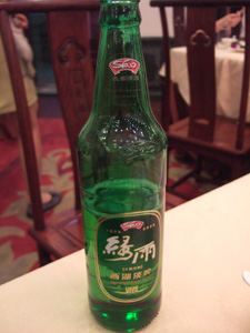 西湖のローカルビール@中国杭州西湖の楼外楼