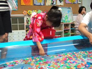 スーパーボールすくい@幼稚園の夏祭り