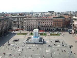 ドゥオーモ(Duomo)の屋上からの眺望@ミラノ