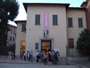 「最後の晩餐」があるドメニコ会修道院への入口@ミラノ