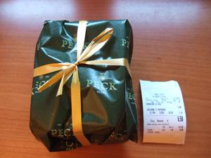 高級食材店PECKの過剰包装?@ミラノ