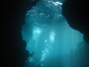 青の洞窟@沖縄研究室旅行