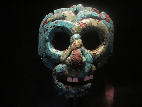 古代アステカ文明の面@ロンドン大英博物館