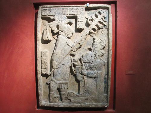 古代マヤ文明のレリーフ@ロンドン大英博物館