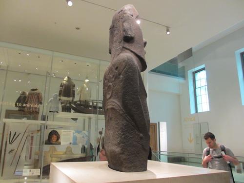 イースター島のモアイ像@ロンドン大英博物館
