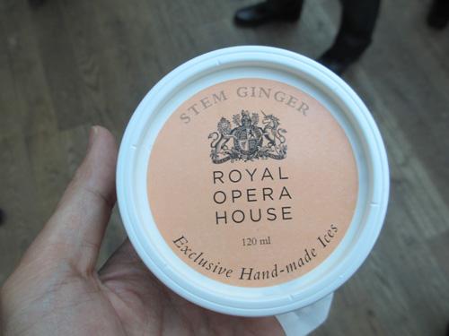 ロイヤルオペラハウスのアイスクリーム@ロンドン