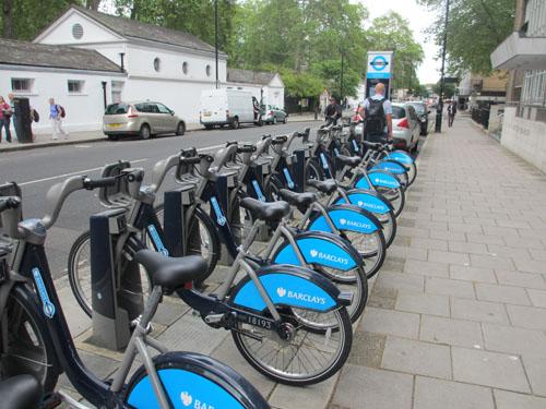 ロンドンのレンタサイクル