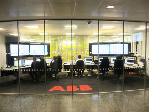 CO2キャプチャープラントの制御室@Imperial College London