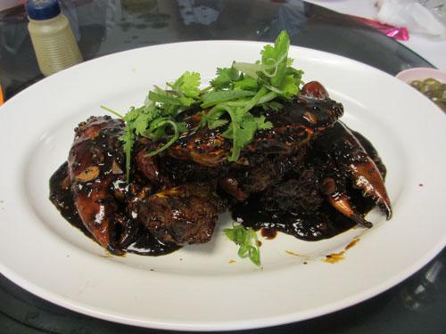 黒胡椒だらけのカニ(Black Pepper Crab)@シンガポール