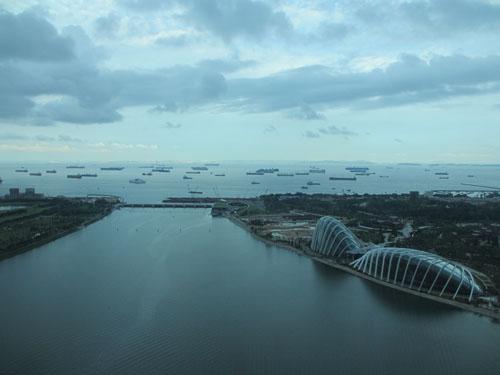 シンガポールフライヤーからの眺望