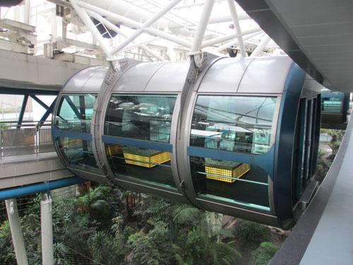 シンガポールフライヤーの巨大なカプセル