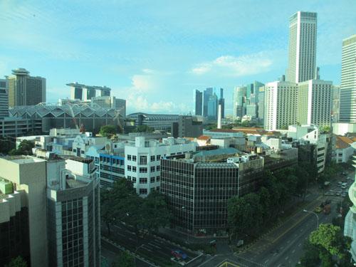 InterContinental Hotelの客室からの眺望@シンガポール