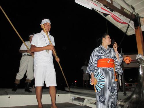 解説が面白い船頭さんと通訳のお姉さん@ぎふ長良川鵜飼
