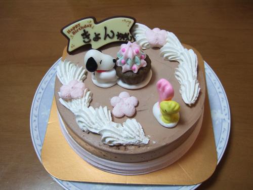 長女のバースデーケーキ:2011年はスヌーピーのアイスケーキ