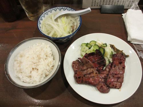 牛タンの定食B1.5人前(4枚)1700円@元祖味太助