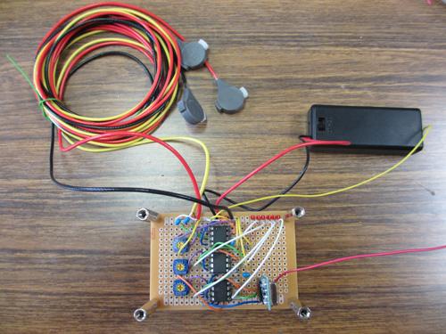 自作した心電計測デバイス(送信機)