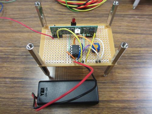 自作した心電計測デバイス(受信機)