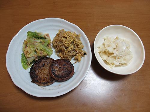 久しぶりに作った夕食4品