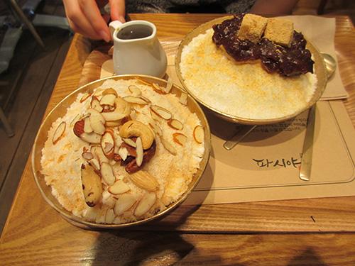 PASIYAコーヒーかき氷@韓国ソウル