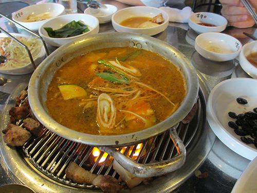 辛い韓国版味噌汁@韓国ソウル
