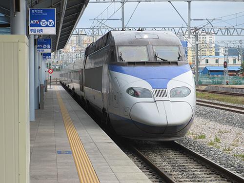 韓国新幹線KTXでテジョンからソウルへ