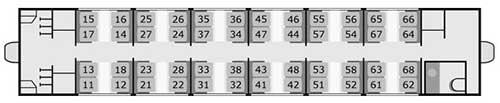 氷河急行の2等車座席番号