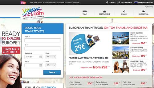 フランス国鉄のサイト(Voyages-sncf.com)