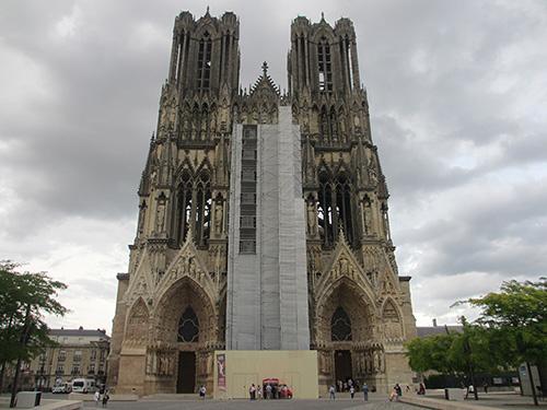 昼間のノートルダム大聖堂@ランス,フランス