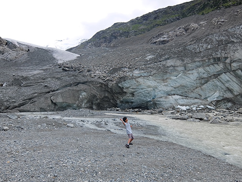 """""""モルテラッチ氷河から流れ出す川と氷の壁"""""""