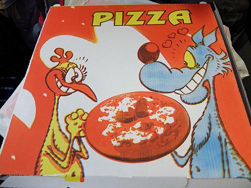 """""""ティラーノで購入したピザの箱"""""""