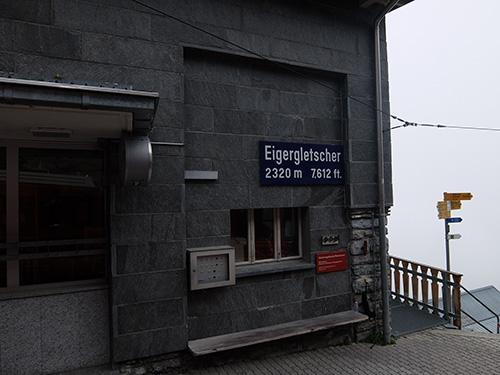 """""""雲の中のアイガーグレッチャー(Eigergletscher)駅@ユングフラウ鉄道"""""""