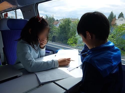 """""""旅行記を書く子供たち@TGV"""